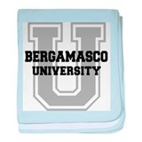 Bergamasco UNIVERSITY baby blanket