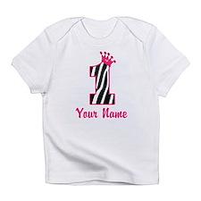 1st Birthday Zebra Infant T-Shirt