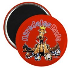 "Airedales Rule 2.25"" Magnet (10 pack)"