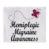 Hemiplegic Migraine Awareness Throw Blanket