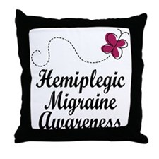 Hemiplegic Migraine Awareness Throw Pillow