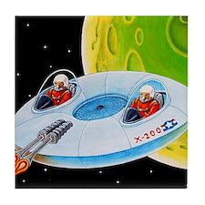 X-200 FLYING SAUCER Tile Coaster