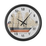 U.S.S. Constitution Large Wall Clock