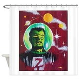 SPACEMAN Z Shower Curtain
