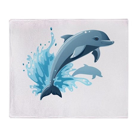Dolphin Throw Blanket