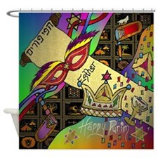 Happy Purim Shower Curtain
