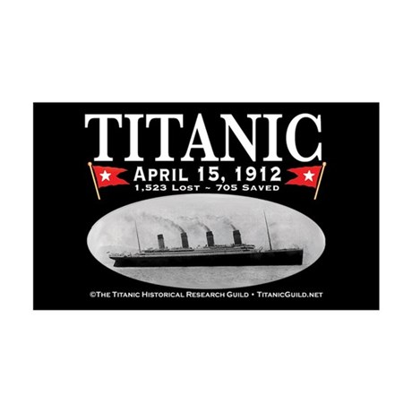 Titanic Ghost Ship (black) 35x21 Wall Decal
