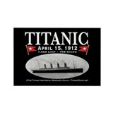 Titanic Ghost Ship (black) Rectangle Magnet