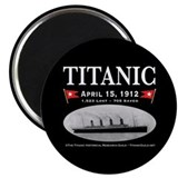 "Titanic Ghost Ship (black) 2.25"" Magnet (10 pack)"
