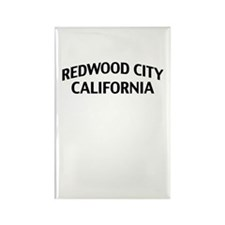 Redwood City California Rectangle Magnet