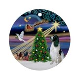 Xmas Magic English Springer (1) Ornament (Round)
