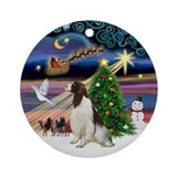 Xmas Magic Springer (Liv) Ornament (Round)