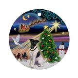 Xmas Magic Fox Terrier (1) Ornament (Round)
