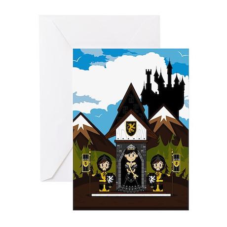 Princess & Black Knights Greeting Cards (Pk of