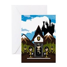 Princess & Black Knights Greeting Card