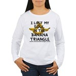 Women's Long Sleeve T-Shirt feat. Banana Triangle