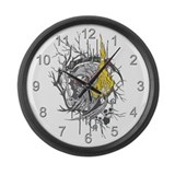 Reaper Fire Large Wall Clock