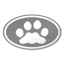 Black White Paw Decal