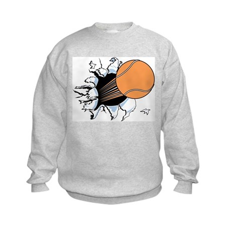 Tennis Ball Burst Kids Sweatshirt