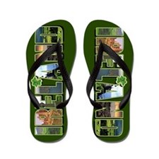 Scenic ireland irish Flip Flops