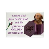 Cool Golden retriever items Rectangle Magnet