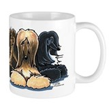 3 Afghan Hounds Small Mug