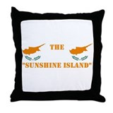 Cyprus Friendly Island Throw Pillow