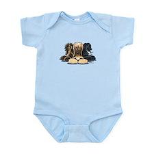 3 Afghan Hounds Infant Bodysuit