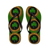Celtic Shamrock Irish Flip Flops