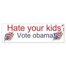 Funny Obama 2012 kids Bumper Sticker