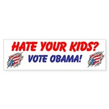 Cute Obama 2012 kids Bumper Sticker