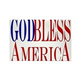 God Bless America Rectangle Magnet (100 pack)