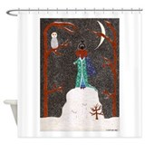 Snow Dachshund Shower Curtain