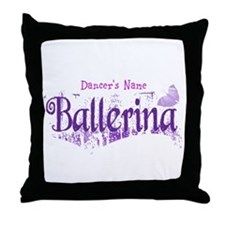 Personalize Your Ballerina Throw Pillow