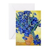 Van Gogh - Irises 1890 Greeting Cards (Pk of 20)