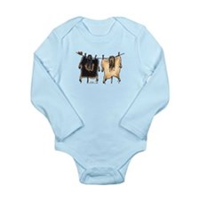 Line Dry Afghans Long Sleeve Infant Bodysuit