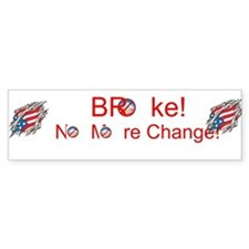 Cute Obama change Bumper Sticker