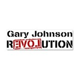 Funny Gary johnson Car Magnet 10 x 3