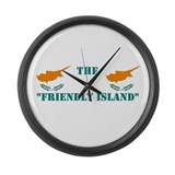 Cyprus Friendly Island Large Wall Clock