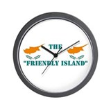 Cyprus Friendly Island Wall Clock