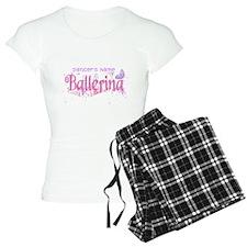 Personalize Pink Ballerina Pajamas