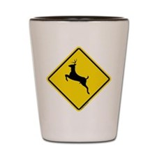Deer Crossing (Repulsive) Shot Glass