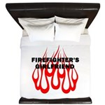 Firefighters Girlfriend King Duvet