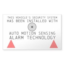 Auto Motion Security System Windshield Decal