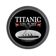 "Titanic Ghost Ship 10"" Wall Clock (black)"