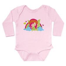 Flower Fairy Rainbow Long Sleeve Infant Bodysuit