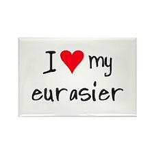 I LOVE MY Eurasier Rectangle Magnet