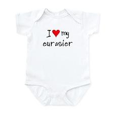 I LOVE MY Eurasier Infant Bodysuit