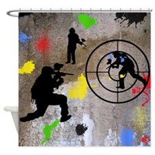 Paintball Mayhem Shower Curtain