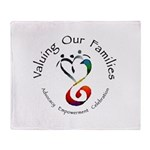 Valuing Our Families Throw Blanket